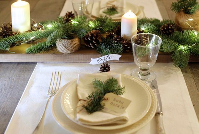 Organizza il men per le feste natalizie e arreda la - Addobbi natalizi per tavola da pranzo ...